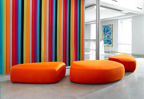 Workplace Interior Design Ottomons - Bernhardt Colours