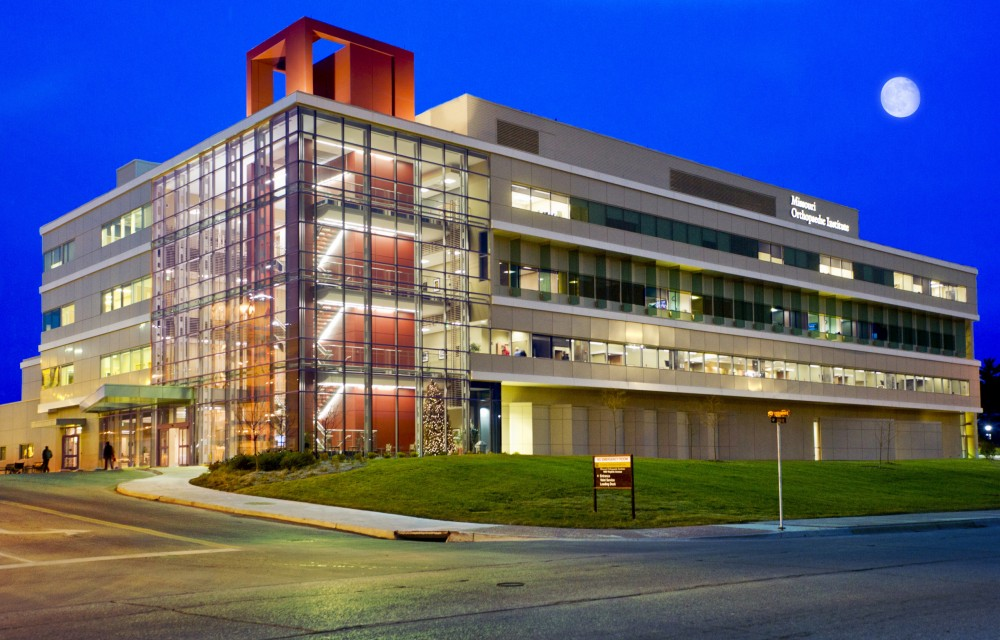 Micro Hospital Missouri Orthopaedic Institute exterior night