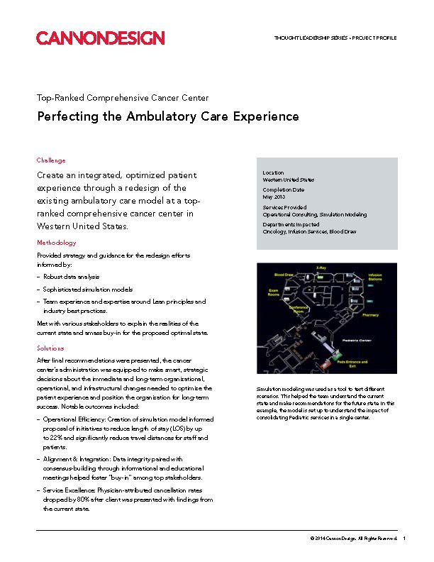 Perfecting Ambulatory Care Experience