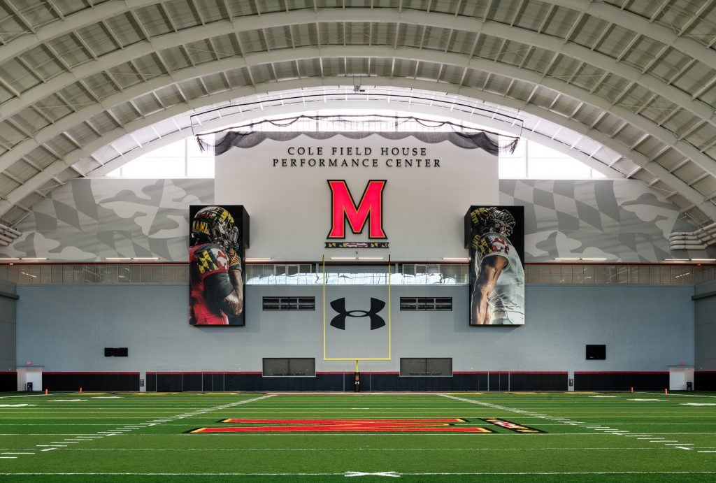 University of Maryland Dedicates Indoor Practice Fields at Cole ...