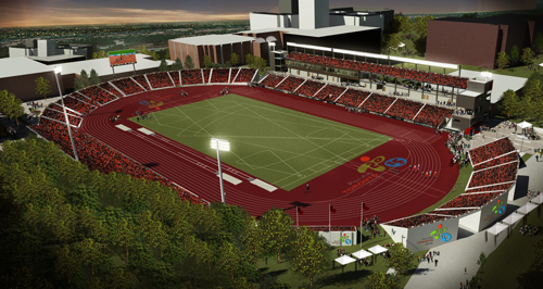 PanAm Athletics Stadium at York University Sports Design