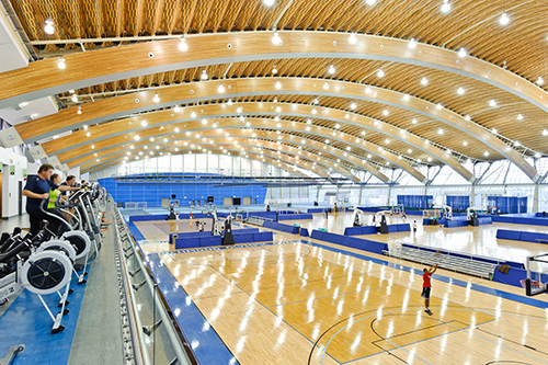 The remarkably flexible interior of the Richmond Olympic Oval offers activity spaces community members seek out and want to use.