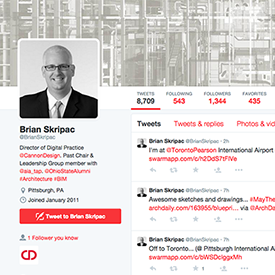 Brian Skripac Earns Spot #23 Spot on #BIMTwitter50 List.