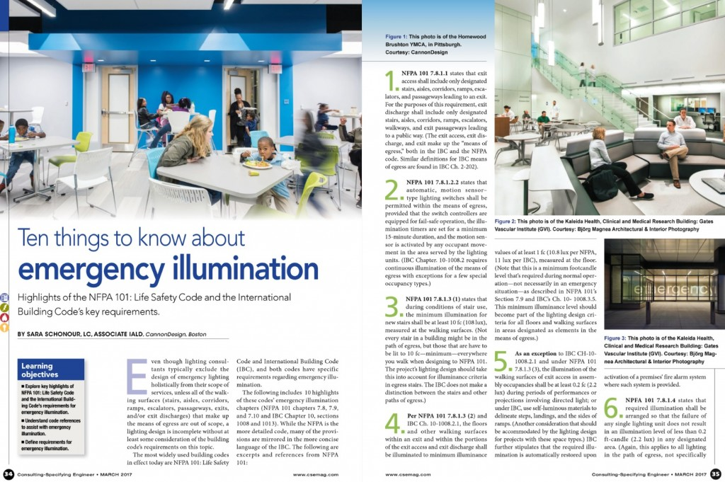 Ten Things to Know About Emergency Illumination