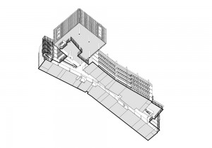 Choisy Axonometric – ground level plan