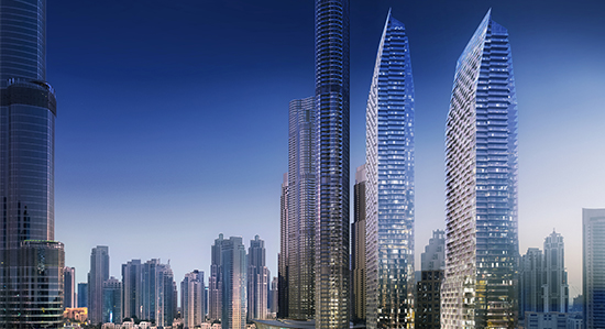 EMAAR Downtown Development Mixed-Use Towers, Dubai, UAE