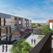construction on Ohlone community college's academic core