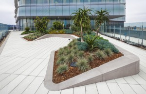 Multiple elevated gardens and terraces bring nature up to the patient level.