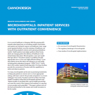 microhospitals report