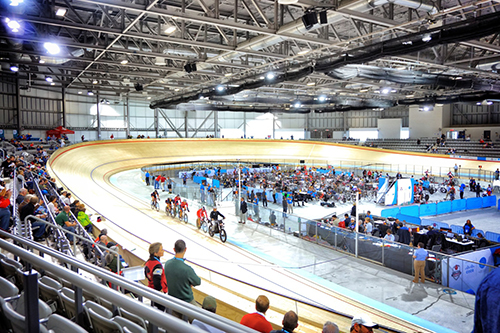 The Milton Velodrome is one of only two built to international competition standards in North America.